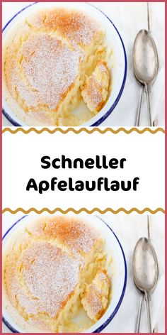 Fast apple casserole- Schneller Apfelauflauf Sweet fruity dessert that is quickly on the table? This apple casserole is prepared in no time and smells so wonderful that it is just as fast plastered – bet ? Fast Dessert Recipes, Desserts For A Crowd, Apple Desserts, Health Desserts, Sweets Recipes, Easy Desserts, Cake Recipes, Dessert Simple, Bon Dessert