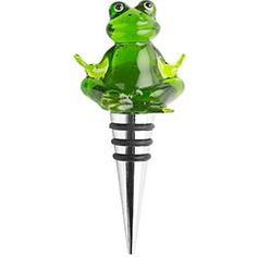 <3 love this!! frog wine stopper