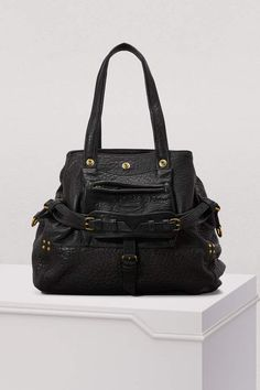 215b9df90b Christine Price Quilted Black Gold Patent Leather Satchel