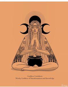 Witch Aesthetic, Aesthetic Art, Arte Aries, Celtic Words, Bild Tattoos, Witch Art, Hippie Art, Illustrations, Art Inspo