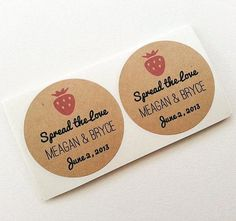 Strawberry Jam Wedding Mason Jar Labels / Stickers / Wedding Favors / Thank You Gifts / Once Upon Supplies Mason Jar Wedding Favors, Wedding Favours Thank You, Wedding Favor Labels, Creative Wedding Favors, Inexpensive Wedding Favors, Elegant Wedding Favors, Edible Wedding Favors, Wedding Gifts For Guests, Wedding Favors For Guests