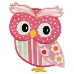 Girl Owl Machine Embroidery Applique Design