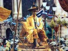 "King Bhumibol Adulyadej, the present king of Thailand on his Coronation Day.  On that day he pledged that he would ""reign with righteousness for the benefit and happiness of the Siamese people"".  And His Majesty has made true with every words he pledged that day."