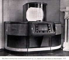 1947 | 1947 Baird Large-Screen Direct-View Television Set!