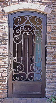 models of the wrought iron entrance doors - الأناقة والديكو Ø .- modèles des portes d'entrée en fer forgé – الأناقة والديكو… models of the wrought iron entrance doors – الأناقة والديكور - Wrought Iron Security Doors, Wrought Iron Garden Gates, Wrought Iron Decor, Iron Front Door, Iron Doors, Front Entry, Iron Gate Design, Window Grill Design, Front Door Design