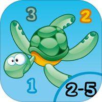 Spill for barn i alderen 2-5 om dyrene i havet: spill og aktiviteter for barnehage, førskole eller barnehage med hav, vann, fisk, skilpadde, ål og krabbe av Escaleto UG (haftungsbeschraenkt)