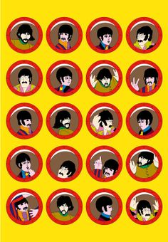 To celebrate the Beatles' anniversary has published the first ever set of fine art prints of the stunning artwork from the classic 1968 animated film Yellow Submarine. Yellow Submarine Movie, Festa Yellow Submarine, Beatles Party, Les Beatles, We Will Rock You, The Fab Four, Retro Art, Classic Rock, Cool Bands