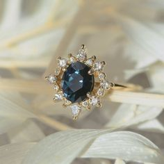 Halo Setting, Halo Rings, Halo Diamond, Ring Designs, Blue Sapphire, Anniversary Gifts, Centre, Artisan, Engagement Rings