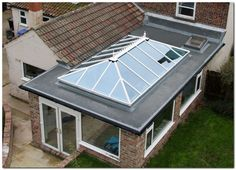 70+ Awesome Roof Lantern Extension Ideas #SlopingRoofingIdeas