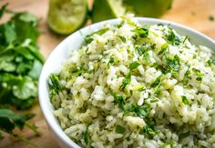 By keeping just a few ingredients on hand you'll always have the option of whipping up this light, effervescent Cilantro Lime Rice. So good!