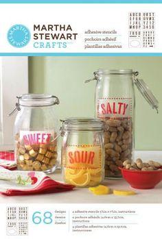 Martha Stewart Crafts Adhesive STENCILS:  Kitchen & Dining