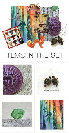 """Asian Influence"" by artbymarionette ❤ liked on Polyvore featuring art, integrityTT and EtsySpecialT"