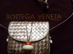 Vintage Bottega Veneta Woven Metallic Copper by VintagebyBasha, $395.00