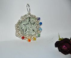 Caissie Cape Sea Glass Handpainted Chakra Wire by WitchsChamber