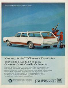 1967 Oldsmobile Vista-Cruiser Station Wagon Ad 60s by AdVintageCom