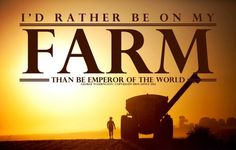 I'd Rather be on My Farm