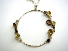 Silver Wire & Quartz Pendant by megangillis on Etsy, $68.00