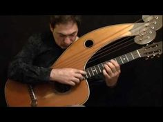 Acoustic Guitar Don Alder Dyer Harp Guitar - CANADIAN FOLK MUSIC