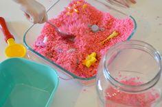 DIY Sugar Sand - sensory kids activity
