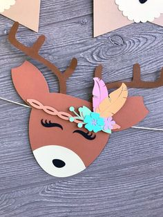 Woodland Decor, Woodland Party, Easy Paper Crafts, Foam Crafts, Class Decoration, Animal Birthday, Party Kit, Baby Deer, Baby Boy Shower