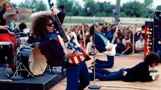 MC5 (L-R Dennis 'Machine Gun' Thompson, Wayne Kramer, Fred 'Sonic' Smith and Rob Tyner) perform live in Mount Clemens, Michigan. January 01, 1969