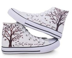 Canvas shoes Tree Converse shoes Custom Converse by Kingmaxpaints, $36.00