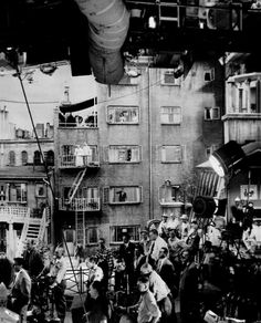 On the set of REAR WINDOW. Janela Indiscreta