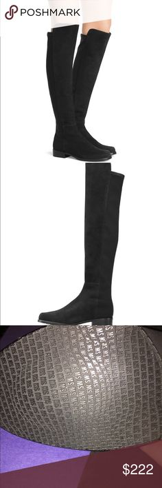 b17c1414e8e Unworn stuart weitzman black 5050 boots. Size 6 Unworn stuart weitzman black  suede 5050 boots. Size 6 Stuart Weitzman Shoes Over the Knee Boots