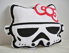 Hello Stormtrooper pillow