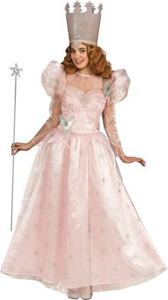 CUTE PINK WIZ OF OZ GLINDA ADULT HALLOWEEN COSTUME FOR WOMEN - EXCLUSIVE #RUBIES #Dress