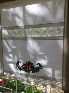 PERDE TASARIM Fancy Curtains, Crochet Curtains, Hanging Curtains, Tuscan Decorating, Interior Decorating, Cortinas Country, Shabby Chic Pillows, Curtain Patterns, Linens And Lace