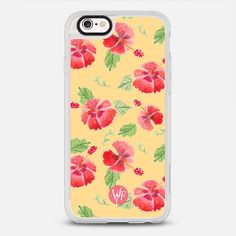 Hawaii Hibiscus - protective iPhone 6 phone case in Clear and Clear by @wonderforest | @casetify