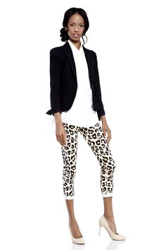 I would prefer the pants a little longer, but love the combination.  Sophisticated with touch of flare.
