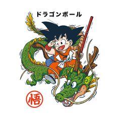 'Sangoku Shenron Dragon Ball Z' Spiral Notebook by bNNFactory Cartoon Tattoos, Anime Tattoos, Akira, Dragon Ball Z, Kid Goku, Desenho Tattoo, Graphic Artwork, Manga Art, Chibi