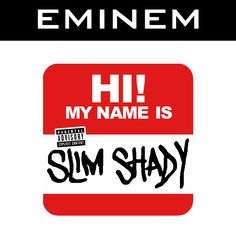 Artist: Eminem Track: My Name Is Producer: Dr. Dre Album: The Slim Shady LP More than any rapper before or since, Eminem has become a true household name. Eminem Logo, Eminem Tattoo, Eminem Quotes, Eminem My Name Is, Eminem Albums, Rap, Eminem Slim Shady, Creative Names, Cool Art Drawings