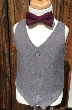 Hugo Boys Grey Vest Baby Boy Formal Wear Toddler Formal