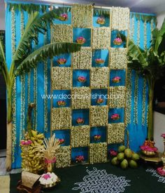 For tradition lovers, simple Decoration for by Lingampally branch is taking orders - Baby interests Housewarming Decorations, Diy Diwali Decorations, Garden Wedding Decorations, Backdrop Decorations, Festival Decorations, Backdrop Ideas, Reception Decorations, Flower Decorations, Ganapati Decoration
