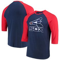 59b849cb9 Chicago White Sox Majestic Cooperstown Collection Special Invitation  Tri-Blend 3/4-Sleeve Raglan T-Shirt - Navy