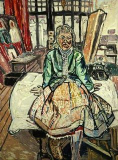 Antonia Fraser by John Randall Bratby Paintings I Love, Your Paintings, John Bratby, Portrait Art, Portraits, Painted Ladies, Woman Painting, Kitchen Sink, Figurative Art
