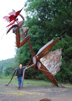 by Bill Secunda, made from discarded metal, weighs over 3,000 pounds!