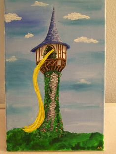 RAPUNZEL TOWER for the girls' Tangled bedroom