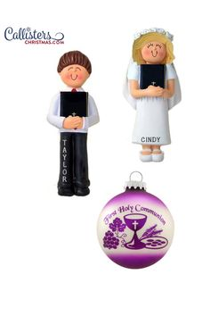 Shop Our Large Collection of Communion Ornaments. Personalized Ornaments for FREE with Callisters Christmas Ornaments. Shop Communion Ornaments at Callisters Christmas. First Communion Gifts, First Holy Communion, Eagles Steelers, Old World Christmas Ornaments, Personalized Christmas Ornaments, How To Make Ornaments, Gifts For Boys, Boy Or Girl, Holiday Decor