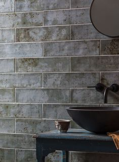 Use our Camden Marine Ceramic Tile for a cool, industrial vibe. Buy this blue grey rustic ceramic floor and wall tile online or visit our UK showrooms. Fine Porcelain, Porcelain Ceramics, Painted Porcelain, Porcelain Tiles, Mandarin Stone, Large Format Tile, Rustic Ceramics, Outdoor Tiles, Tiles Online