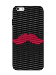 Red Mouche Pattern - For Real Men - Designer Mobile Phone Case Cover for Apple iPhone 6