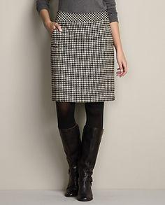 Mercer Wool-Blend Pattern Boot Skirt | Eddie Bauer