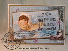 Double carte 3D artisanale «Joies d'hiver» / 3D handmade double card «Winter joys» Scrapberry's© papers