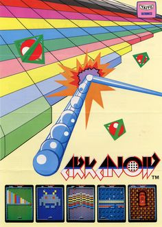 Arkanoid - flyer |   Game On!  #retro #gaming #ads