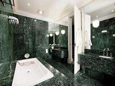 Small carrera marble bathroom with light green gray walls White Kohler fixtur … – Marble Bathroom Dreams Green Marble Bathroom, White Bathroom, Small Bathroom, Bathroom Ideas, Marble Bathrooms, Marble Tiles, Bathroom Designs, Home Room Design, Dream Bathrooms