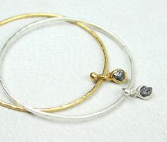 rough diamond bangle by tamara gomez jewellery | notonthehighstreet.com