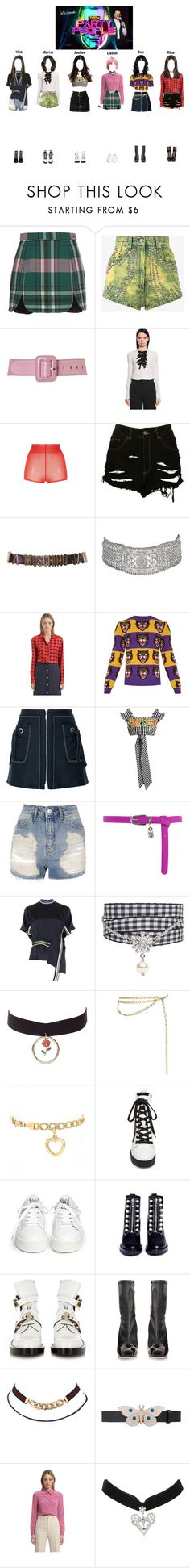 """""""StarZ at JYP's Party People"""" by starz-official ❤ liked on Polyvore featuring Carven, Gucci, Lipsy, Rochas, N°21, The Ragged Priest, Moschino, Larusmiani, Kenzo and House of Holland"""